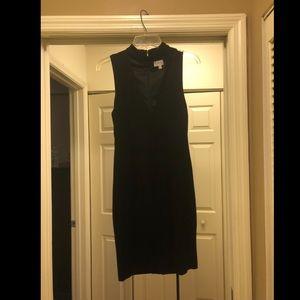 LF Black Low Cut Midi Dress